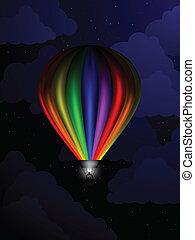 balloon, nuit