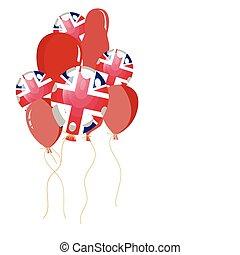 balloon of United Kingdom flag