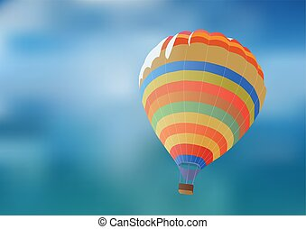 Balloon on a background blue sky.