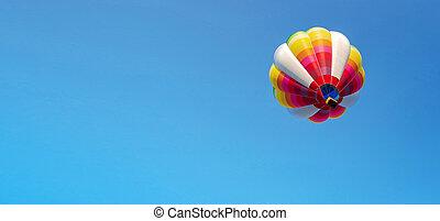 Balloon on blue sky