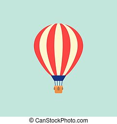Balloon on sky background or blue background
