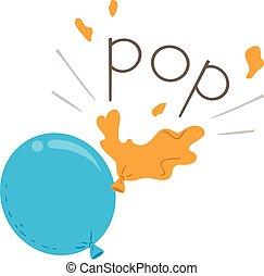 Balloon Onomatopoeia Sound Pop Illustration