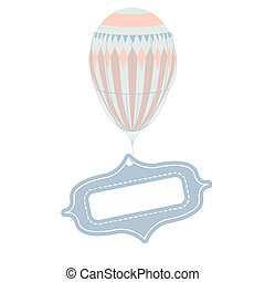 balloon, ouderwetse , vector, label