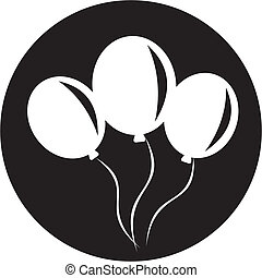 balloon, pictogram