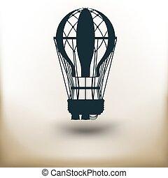 balloon, pictogramme, air
