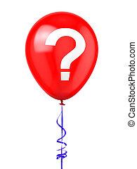 balloon, point interrogation