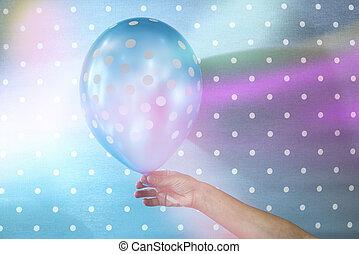 balloon, pontos, branca