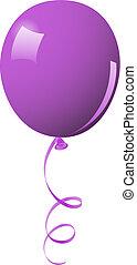 balloon, pourpre