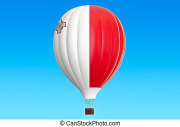 balloon, prapor, malta, stavět na odiv, překlad, horký, 3