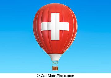 balloon, prapor, stavět na odiv, překlad, horký, švýcarsko, 3