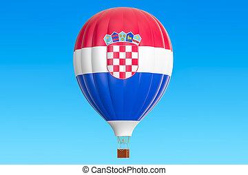 balloon, prapor, stavět na odiv, překlad, horký, chorvatský, 3