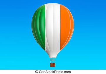 balloon, prapor, stavět na odiv, překlad, horký, irsko, 3