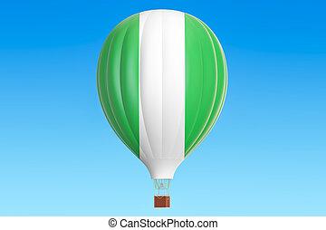 balloon, prapor, stavět na odiv, překlad, horký, nigérie, 3