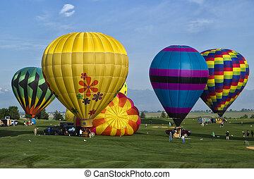 Balloon Rally - Hot Air Balloon Launch near Boulder,...