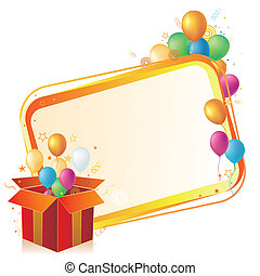 balloon, scatola, regalo