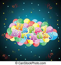 balloon, scheda compleanno