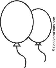 balloon, -, schets, pictogram
