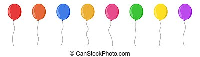 Balloon set isolated on white background. Vector illustration.