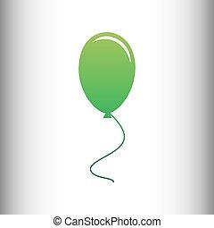 Balloon sign. Green gradient icon