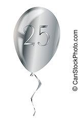 balloon, silber, jubiläum