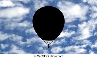 balloon - Illustration of a Balloon over a seamless sky...