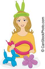 balloon, strengeling, meisje