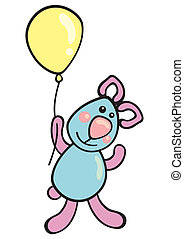 balloon, teddy