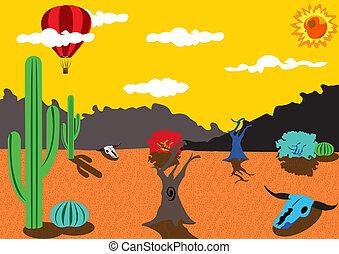 Balloon Trip Around Desert