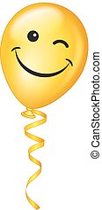 balloon, vecteur, cligner, emoji