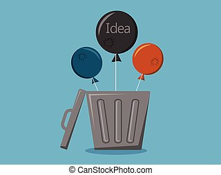 balloon, vecteur, idée, illustration, dessin animé