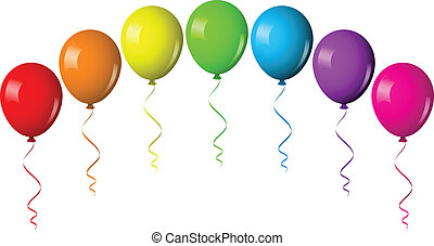 balloon, vector, boog, illustratie