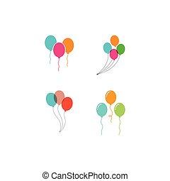 Balloon vector icon template