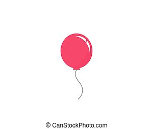 Balloon vector icon template