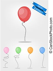 Balloon vector set
