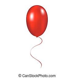 balloon, vektor, piros