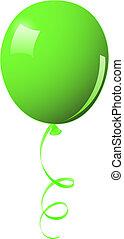 balloon, verde