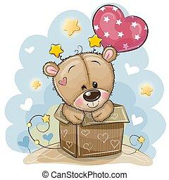 balloon, verjaardag kaart, beer, teddy