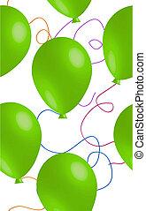 balloon, vert, seamless, fond