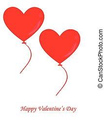 balloon, vetorial, amor