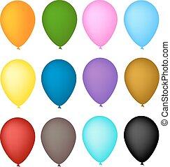 balloon, vetorial, arco, ilustração