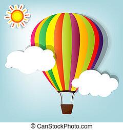 balloon, vetorial, quentes, ilustração, ar