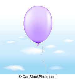 balloon, violeta
