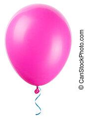 balloon, voando, isolado