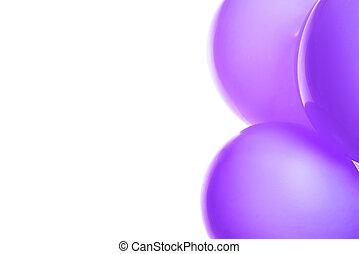 balloon, voando, isolado, violeta