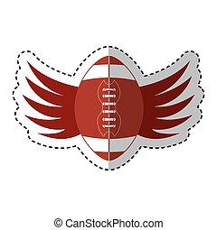 balloon, voetbal, amerikaans pictogram, vleugels