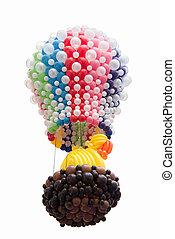 balloon, vrijstaand, op wit, achtergrond