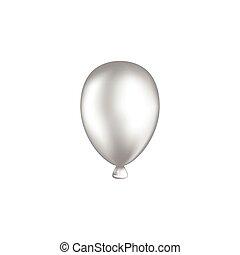 balloon white vector illustration. isolated on white background