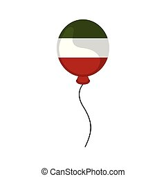 Balloon with a colors of the flag of mexico