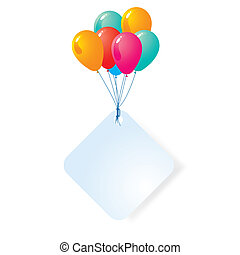 balloon with blank card
