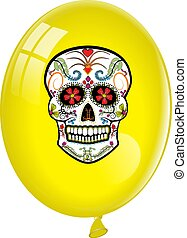 Balloon with Candy Skull